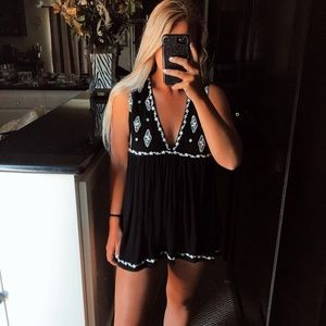 Free people black and white tank top